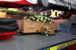 Funeral fire engine