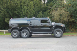 Hummer funeral vehicle