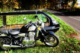 Funeral motorbike and sidecar