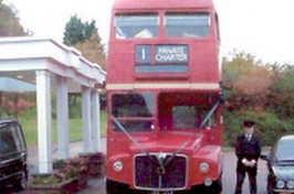 double decker bus funeral vehicle